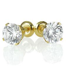 Valentine's Round 0.80 CT F/VS2 Enhanced Diamond Stud Earrings 18K Yellow Gold