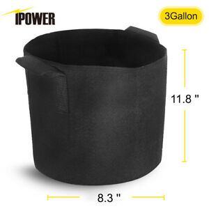 iPower 5-Pack Fabric Grow Pots Breathable Plant Bags Smart Plant with handle