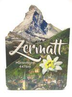 Zermatt Matterhorn 4478 mtr. Holz 2D Magnet 10 cm Souvenir Schweiz