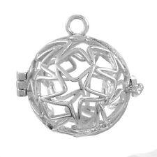 5 Schutzengel Käfig Anhänger Stern für 15mm Bola Perlen Mexican Ball