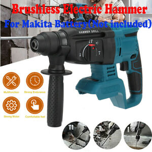 For Makita 21V Cordless Electric Rotary Hammer Drill Impact 4 Modes Body only