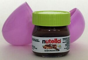 NUTELLA mini-glass jar w/ green top 1.05oz Made in Italy -Purple Egg Special-