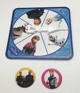 Disney Frozen Hands Down Game Replacement Pieces Spinner & 2 Target Discs