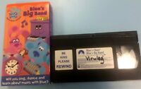 Blues Clues Nick Jr VHS Tape Blues Big Band Children's Video