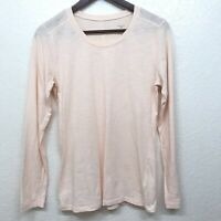 Patagonia Women's Top Size Small Peach Pink Long Sleeves Organic Cotton Blend