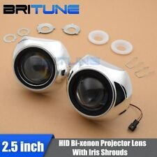 Mini 2.5'' MH1 HID Bi-xenon Projector Lens Headlight With Iris Shrouds H1 H4 H7