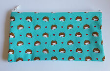 Cute Hedgehog Fabric Handmade Make Up Bag Pencil Case Storage Pouch