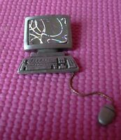 Silver/Pewter Pin JJ Jonette Jewelry Computer Monitor Keyboard Mouse Brooch