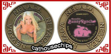 New listing Moonlite Bunny Ranch Brothel Girl Brass Coin Bunny Of The Year