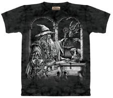 Wizard & Dragon Fantasy Hand Dyed Adult T-Shirt, NEW