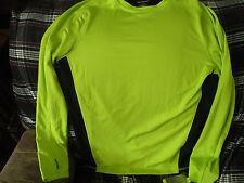 Tek Gear long sleeve athletic shirt, wicking, odor resistant, large, black/lime