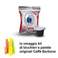 100 capsule caffè Borbone REspresso Compatibili Nespresso Miscela ROSSA +omaggio