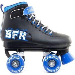 SFR Boys Kids Vision II Quad Roller Skates Black / Blue