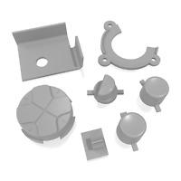 Game Gear Buttons Sega Replacement Grey Keys Start A B DPad Power