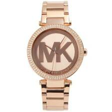 NEW Michael Kors MK5865 Ladies' Parker in Dial MK Logo Rose Gold Designer Watch