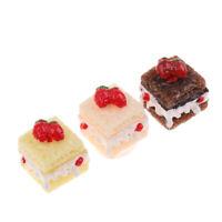 3pcs/Set Miniatur Kuchen Dessert Lebensmittel für 1/12 Puppenhaus Esstische