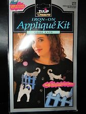 Cool Cats Cat Lady Lame Applique Tulip Treasures Iron On Shirt decals Artsy