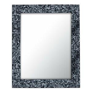 "DecorShore 30"" X 24"" Sharkskin Silver Handmade Mosaic Wall Mirror - Open Box"