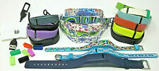 Lot 18 Flex Fitbit Activity Tracker Replacement Bands Solid, Pattern +1 Charger