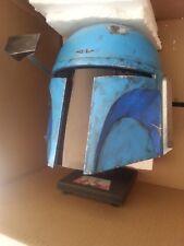 1 Star Wars Prop Star Wars Boba Fett prop BLUE Helmet Wearable** Plus stand NICE