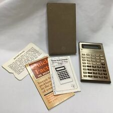 Vintage Texas Instruments Business Analyst Ii Ba-ll Calculator Case Manual 1977
