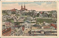 Bird's Eye View of East Side in Oil City PA Postcard 1919