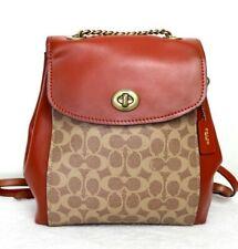 Coach covertible backpack shoulder bag signature canvas khaki