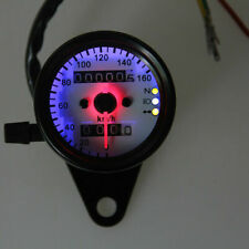 Motorcycle KMH Gauge Dual Odometer Speedometer Speedo LED for Honda Cafe Racer
