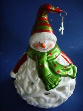 Home Reflections Snowman Luminary with Flameless Candle Colour Change 6hr Timer