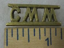CMM - ORIGINAL OLDER Vintage BRITISH INDIA Made METAL SHOULDER TITLE BADGE