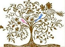 Alessandra Adelaide Needleworks TWO BIRDS Counted Cross Stitch Pattern TREE