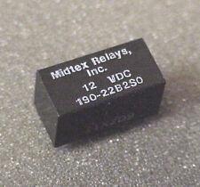 Midtex 190-22BS0  DPDT 12V Relay PCB Mount
