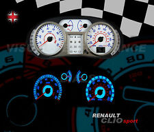 Renault Clio mk3 sport 182 interior speedo dash bulb lighting upgrade dial kit