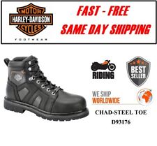 Harley-Davidson® D93176 Men's Chad Steel Toe Leather Motorcycle Boots - All Size