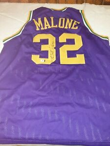 """Karl Malone - """"The Mailman"""" - Hand Signed Utah Jazz Jersey  - Autographed"""