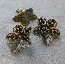 Filigree floral Component for scrapbooking, jewellery - pack of 15