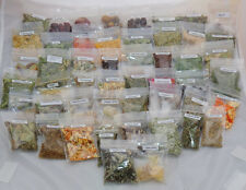 50 herbs resins ingredients & 6 candles Witches starter set pagan spell kit