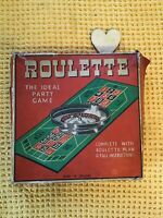 Vintage 1960s Tin Plate Roulette Game In Original Box By Chad Valley