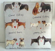Wall Picture Plaque , Vintage, Retro style  Handmade /  Cute Dogs / Decoupage