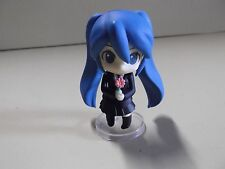 """#A223 Vocaloid Miku Anime 2.5""""in Blue Hair Cutie in Darling Black Outfit"""