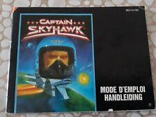 Notice du jeu Nintendo nes  Fr captain Sky Hawk skyhawk