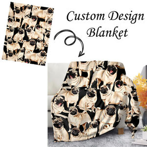 Cutsom Design Soft Warm Micro Plush Throw Blanket for Sofa Couch Bedding Grace