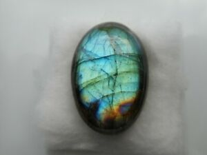A Labradorite cabochon for jewellery making Oval 27x19x8mm Blue