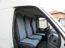 OPEL VIVARO 2001 - 2014 Front Seat Covers BLACK AND GREY 1 SINGLE 1 DOUBLE
