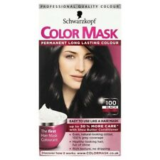 SCHWARZKOPF COLOR MASK 100 BLACK  PERMANENT COLOUR