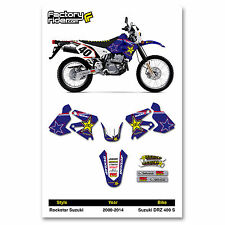 2000-2014 SUZUKI DRZ 400 S Rockstar Motocross Graphics Dirt bike Graphic kit
