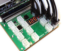 16 Port HP DELL Delta ASIC Miner Power Supply Benchtop Breakout Board + 6 Cables