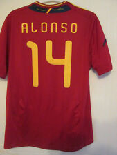 2009-2010 Xabi Alonso Spain Home Football Shirt Size XL (35337)