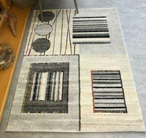 Grey Geometric Rug Modern Aztec Tribal Living Room Rugs Autumnal Cozy Area Rug