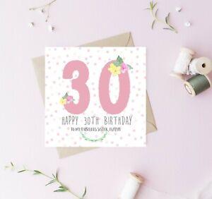 Personalised 21st, 30th, 40th, 50th 60th Birthday card Friend, sister, mum, nan